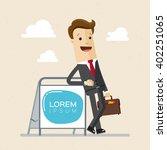 businessman  manager ... | Shutterstock .eps vector #402251065