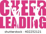 cheerleading word with cutout | Shutterstock .eps vector #402252121