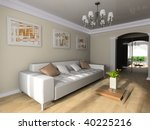 room in classical style 3d image | Shutterstock . vector #40225216