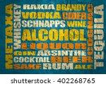 different drinks list. drink... | Shutterstock . vector #402268765