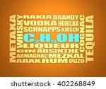 different drinks list. drink... | Shutterstock . vector #402268849