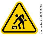 warning heavy object | Shutterstock .eps vector #402273037