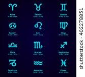 zodiac icons. horoscope set ... | Shutterstock .eps vector #402278851