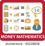 money mathematics concept.... | Shutterstock .eps vector #40228828