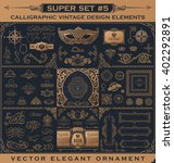 calligraphic vintage emblems.... | Shutterstock .eps vector #402292891