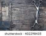 hair cutting shears | Shutterstock . vector #402298435
