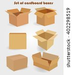 set of cardboard boxes | Shutterstock .eps vector #402298519