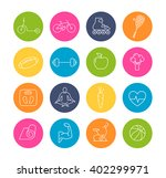 collection of healthy lifestyle ... | Shutterstock .eps vector #402299971
