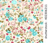 Seamless Cute Floral Vector...