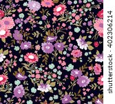 seamless pattern with flowers... | Shutterstock .eps vector #402306214