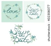 save the date.  love. ... | Shutterstock .eps vector #402308377
