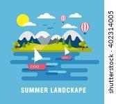 summer  landscape background.... | Shutterstock .eps vector #402314005