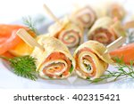 Rolls Of Thin Pancakes With...
