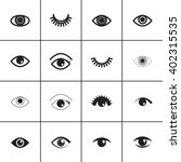 Set Of Different Eyes Icons....