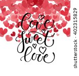 love sweet love text as... | Shutterstock .eps vector #402315829