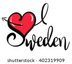 i love sweden   vector graphic | Shutterstock .eps vector #402319909