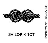 sailor knot. nautical rope... | Shutterstock .eps vector #402327331