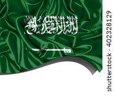 saudi arabia  flag  of  silk... | Shutterstock . vector #402328129