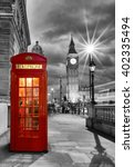 Red Telephone Booth In Front Of ...