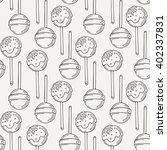 vector candy and lollipop... | Shutterstock .eps vector #402337831