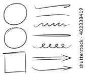 arrows  underlines  circles and ... | Shutterstock .eps vector #402338419