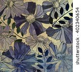 Art Vintage Stylized Flowers...
