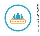 client satisfaction icon.... | Shutterstock .eps vector #402345571