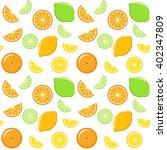 seamless pattern with lemon ... | Shutterstock .eps vector #402347809