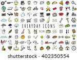 everyday objects icons set  ... | Shutterstock .eps vector #402350554