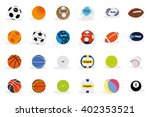 set of different sport balls on ... | Shutterstock .eps vector #402353521