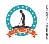 golf club design  | Shutterstock .eps vector #402354391