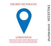 map pointer vector icon. mark...