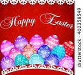 illustration of a postcard at... | Shutterstock .eps vector #402358549