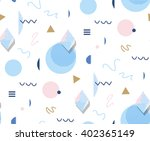 retro memphis  80s or 90s style ... | Shutterstock .eps vector #402365149