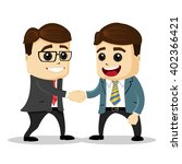 manager characters shaking... | Shutterstock .eps vector #402366421