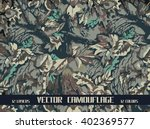 vector forest camouflage | Shutterstock .eps vector #402369577