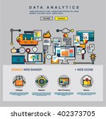 one page data analytics web... | Shutterstock .eps vector #402373705