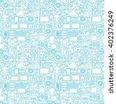 thin line technology gadgets... | Shutterstock .eps vector #402376249