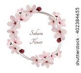 sakura flowers vector... | Shutterstock .eps vector #402384655