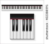 Vector Piano Keys Set