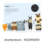 animal banner with dogs for web ...   Shutterstock .eps vector #402390055