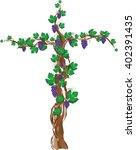 Floral Grapevine Cross  Grape...