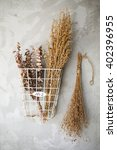 composition of dried flowers   Shutterstock . vector #402396955