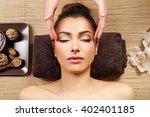 beautiful young girl having... | Shutterstock . vector #402401185