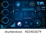 abstract hud interface... | Shutterstock .eps vector #402402679