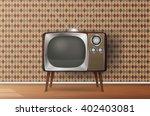 retro tv in the wooden case ...