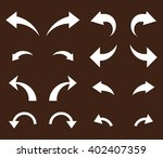 undo and redo vector icon set.... | Shutterstock .eps vector #402407359