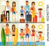 family vacation  family at an... | Shutterstock .eps vector #402407785