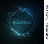 3d illuminated neon wreath or... | Shutterstock .eps vector #402411427