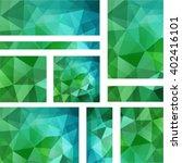 set of polygonal vector... | Shutterstock .eps vector #402416101